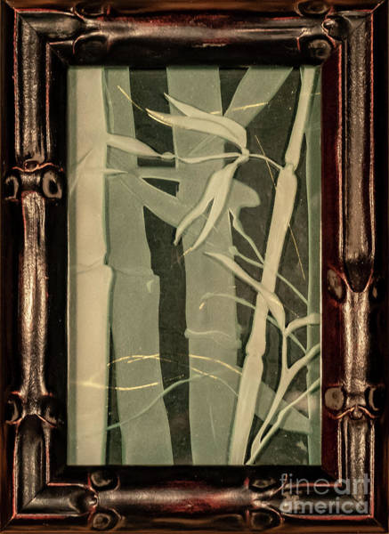 Glass Art - Eclipse Bamboo With Frame by Alone Larsen