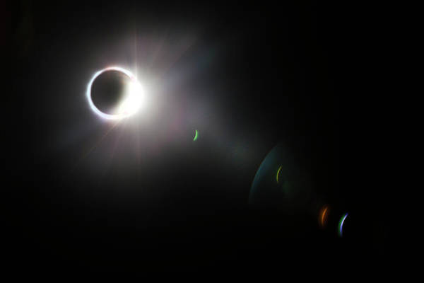 Photograph - Eclipse Diamond Ring With Flares by Debra and Dave Vanderlaan