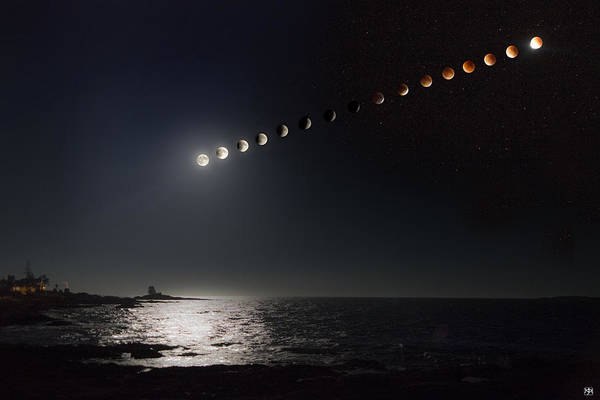 Photograph - Eclipse Of The Moon by John Meader