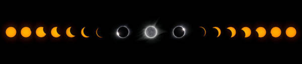 Photograph - Eclipse Progression by Dennis Sprinkle