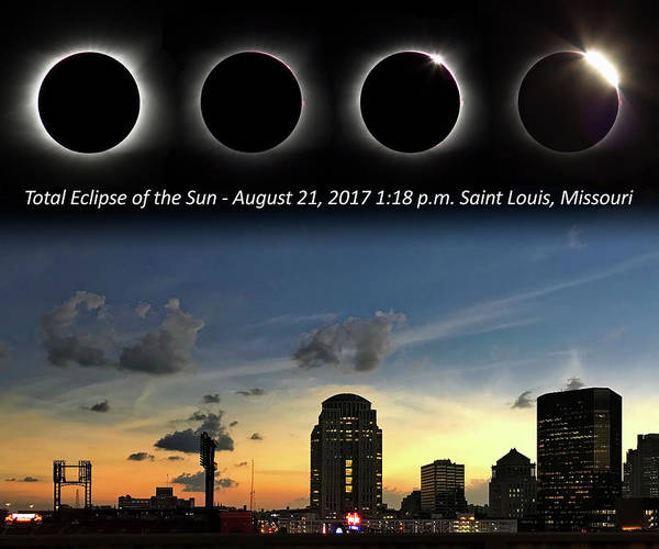 Photograph - Eclipse - St Louis by Harold Rau and Sharon Rau Zinck