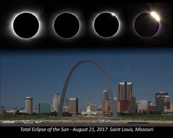 Eclipse - St Louis Skyline Art Print