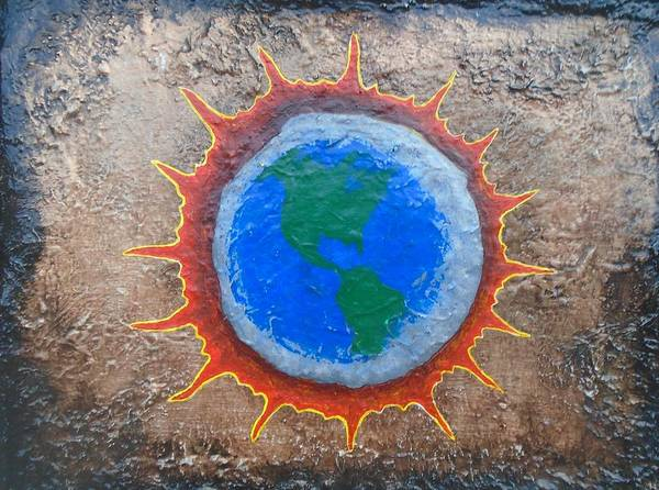 Eclipse Mixed Media - Eclipse by Steve  Hester