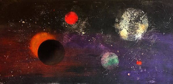 Monotype Mixed Media - Eclipse by William Renzulli