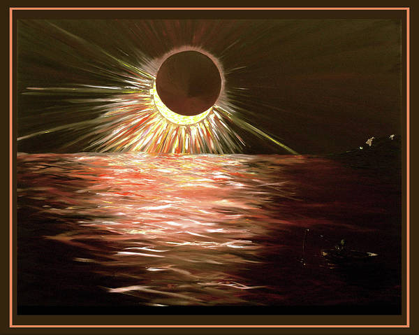 Eclipse Mixed Media - Eclipsing Sky by Elisabeth Dubois