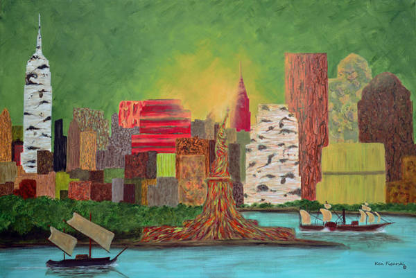 Grand Central Painting - Eco Manhattan by Ken Figurski