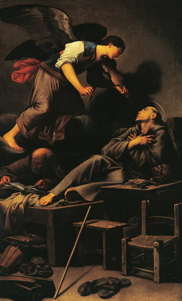 Assisi Painting - Ecstasy Of St Francis by Carlo Saraceni