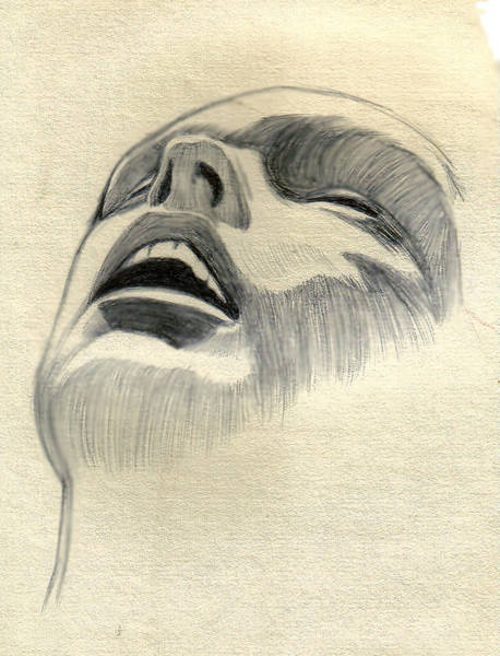Drawing - Meditating by Marco Morales