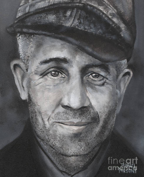 Serial Killer Painting - Ed Gein by Michael Parsons