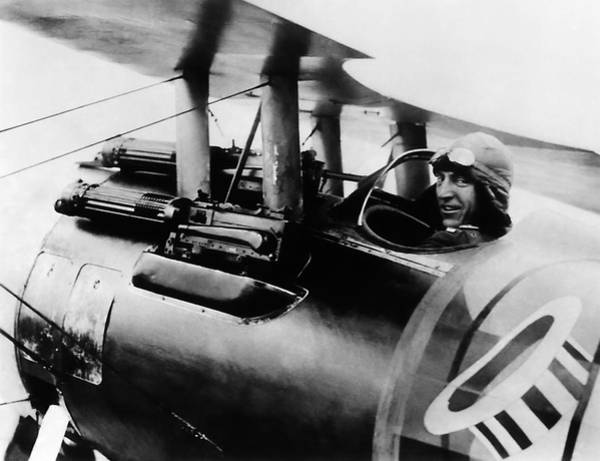 Medal Of Honor Photograph - Eddie Rickenbacker In His Spad Biplane - Ww1 by War Is Hell Store
