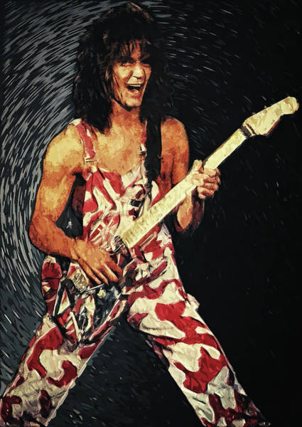 Wall Art - Digital Art - Eddie Van Halen by Zapista Zapista
