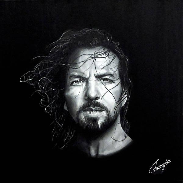 Pearl Jam Painting - Eddie Vedder - Last Kiss by Francesca Agostini