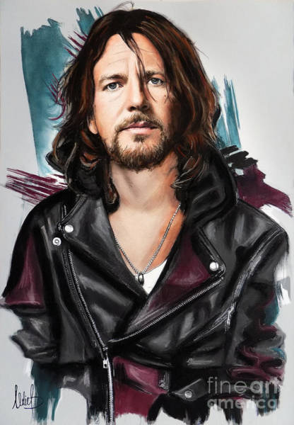 Wall Art - Pastel - Eddie Vedder by Melanie D