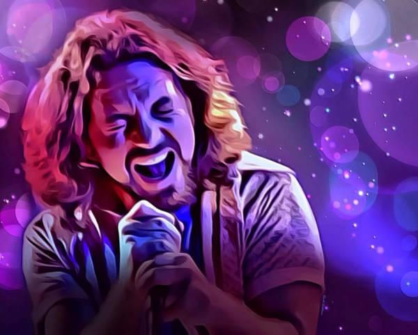 Eddie Digital Art - Eddie Vedder Portrait by Scott Wallace Digital Designs