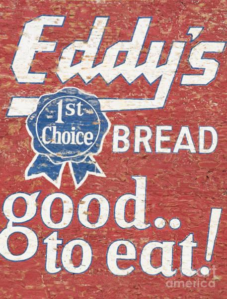 Mural Photograph - Eddy's Bread by Juli Scalzi