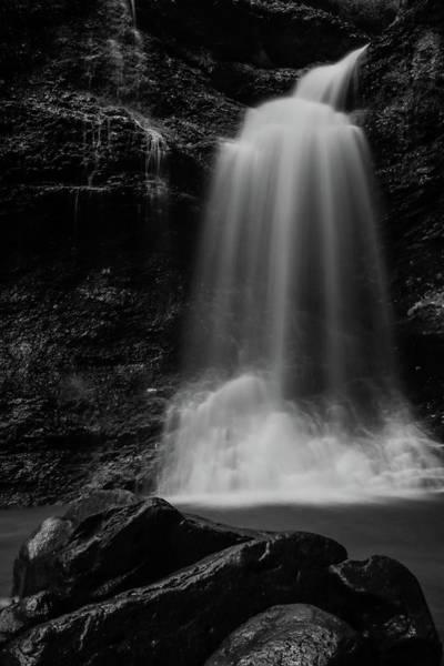 Wall Art - Photograph - Eden Falls - Black/white by Paul Green