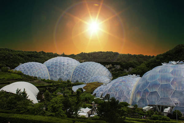 Cornwall Photograph - Eden Project by Martin Newman