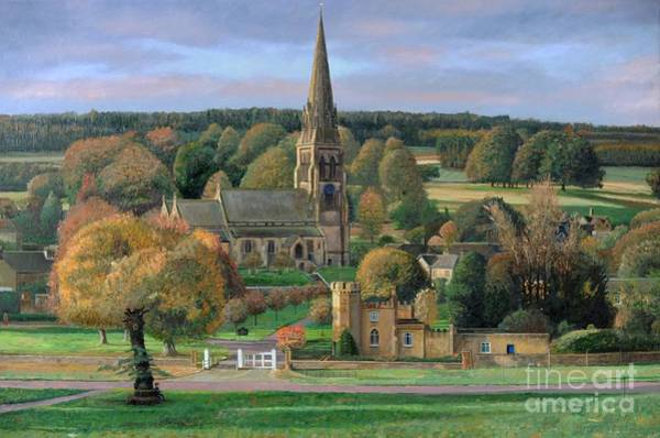 Pig Painting - Edensor - Chatsworth Park - Derbyshire by Trevor Neal