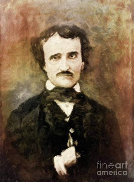 Poetry Painting - Edgar Allan Poe, Literary Legend By Mary Bassett by Mary Bassett