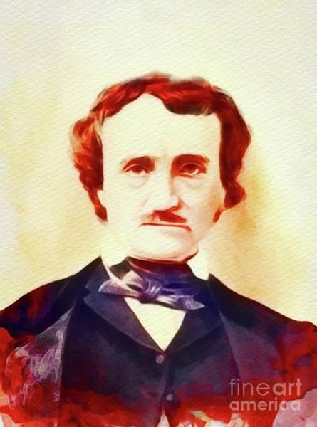 Poe Wall Art - Painting - Edgar Allan Poe, Literary Legend by John Springfield