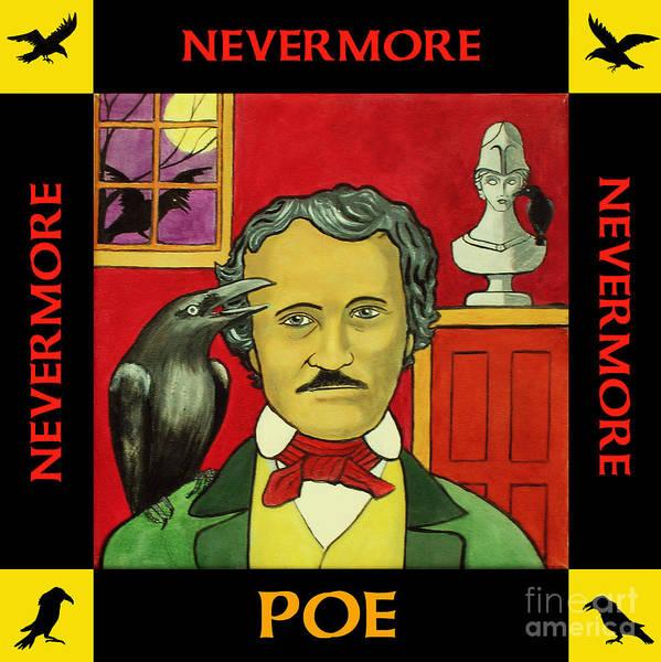 Helm Painting - Edgar Allan Poe by Paul Helm