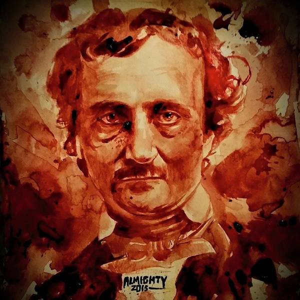 It Professional Painting - Edgar Allan Poe Portrait by Ryan Almighty
