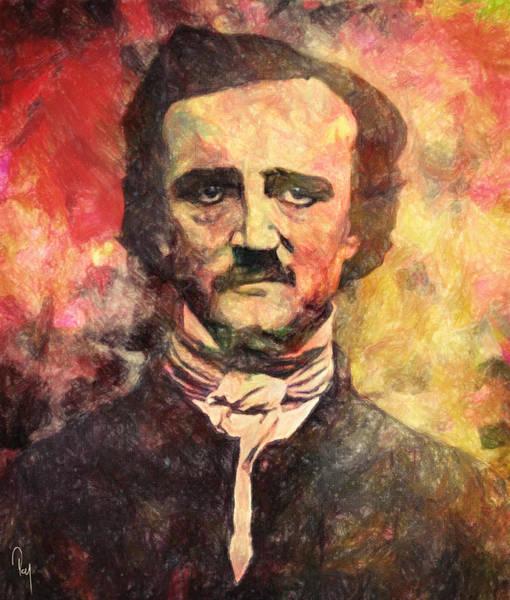 Poe Wall Art - Painting - Edgar Allan Poe by Zapista Zapista
