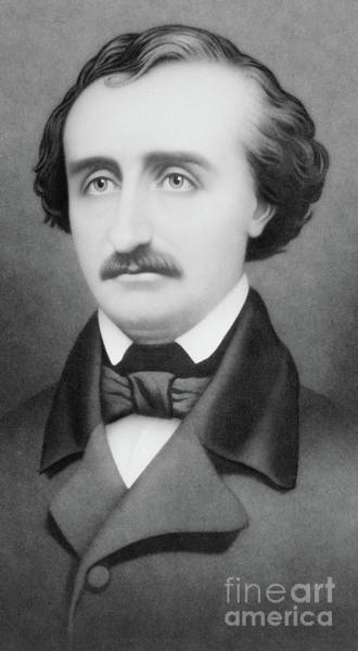 Raven Drawing - Edgar Allan Poe by William Sartain