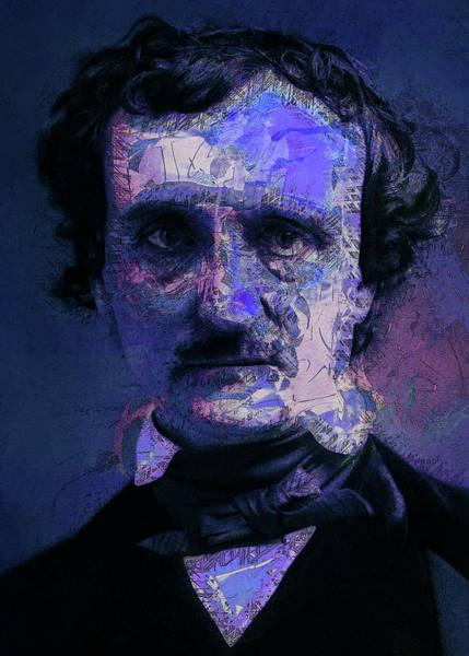 Digital Art - Edgar Allan Poe, Artsy 1 by Joy McKenzie