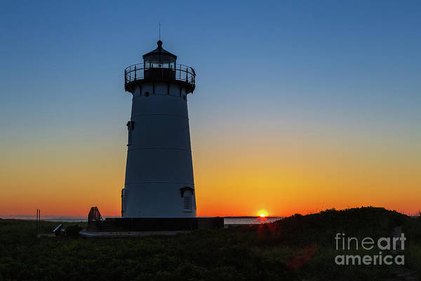 Photograph - Edgartown Harbor Light Sunrise I by Clarence Holmes