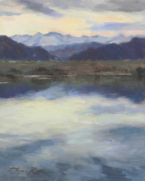 Colorado Landscape Painting - Edge Of Spring by Anna Rose Bain