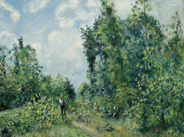 Wall Art - Painting - Edge Of The Woods by Camille Pissarro