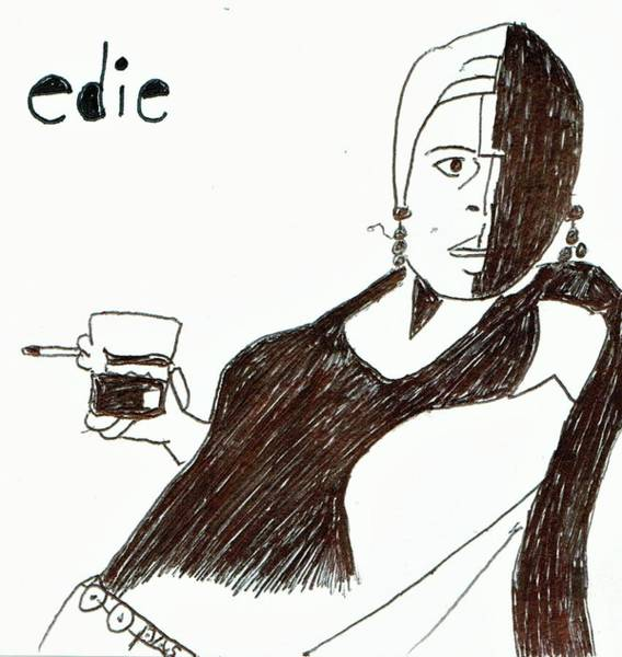 Warhol Drawing - Edie #1 by Phil Strang