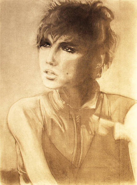 Warhol Drawing - Edie Sedgwick by Scott Shisler