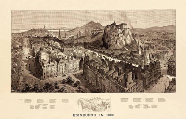 Photograph - Edinburgh 1886 by Andrew Fare