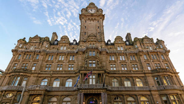 Photograph - Edinburgh Balmoral Hotel Facade by Jacek Wojnarowski