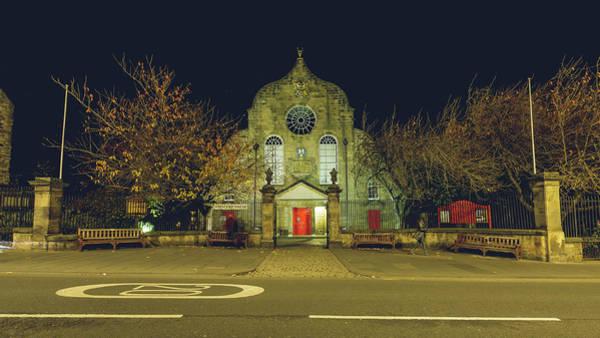 Photograph - Edinburgh Canongate Kirk By Night by Jacek Wojnarowski