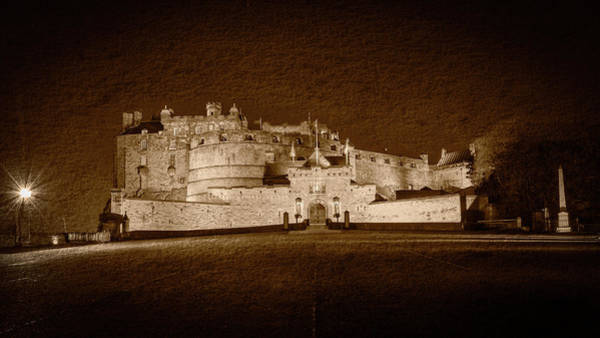 Photograph - Edinburgh Castle By Night Fine Art C by Jacek Wojnarowski