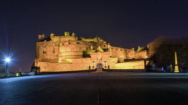 Photograph - Edinburgh Castle By Night by Jacek Wojnarowski