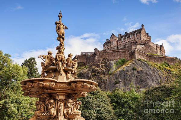 Castle Garden Photograph - Edinburgh Castle by Colin and Linda McKie