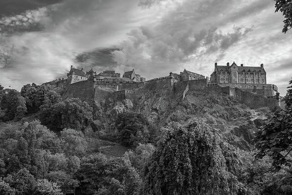Nature Wall Art - Photograph - Edinburgh Castle In Black And White 1 by Iordanis Pallikaras