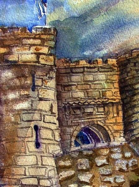 Wall Art - Painting - Edinburgh Castle by Mindy Newman