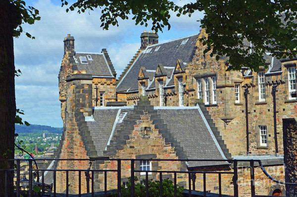 Castles Of Scotland Digital Art - Edinburgh Castle Scotland 2 by Eva Kaufman