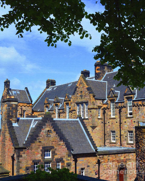 Castles Of Scotland Digital Art - Edinburgh Castle Scotland by Eva Kaufman