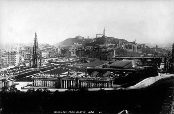 Photograph - Edinburgh From Castle by Lee Santa