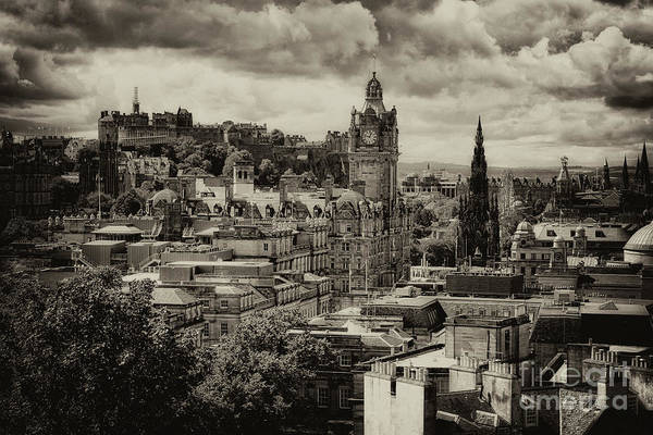 Photograph - Edinburgh In Scotland by Jeremy Lavender Photography