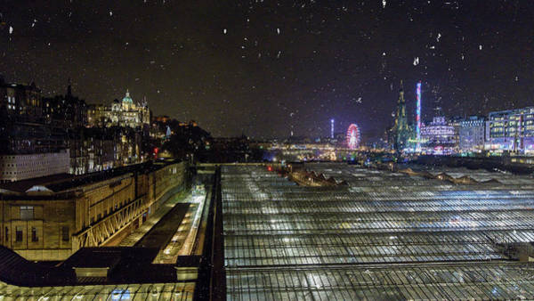 Photograph - Edinburgh Skyline By Night by Jacek Wojnarowski