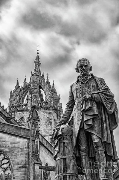 Commercialism Photograph - Edinburgh Statue Of Adam Smith by Antony McAulay