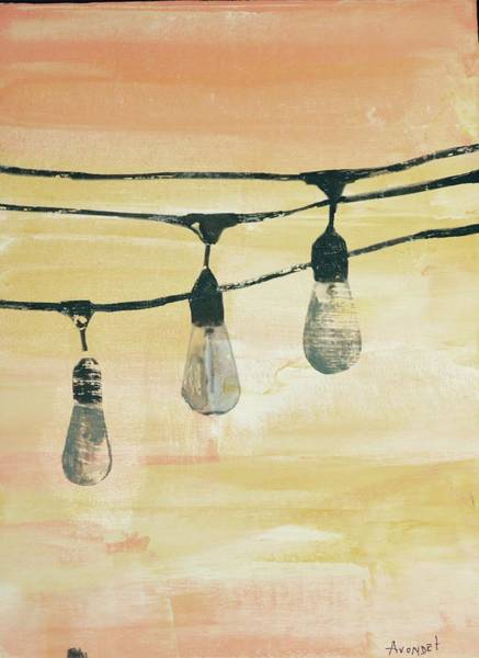 Avondet Wall Art - Mixed Media - Edison IIi by Natalie Avondet