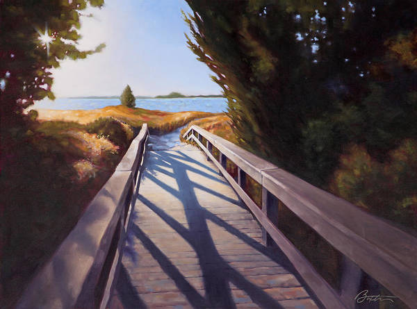 South Beach Painting - Edisto Beach Access by Todd Baxter